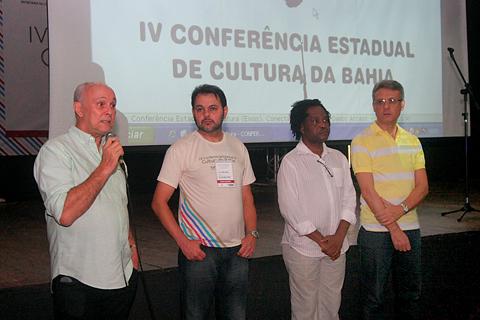 Secretário Albino Rubim fala no Encerramento. Foto Ronaldo Silva